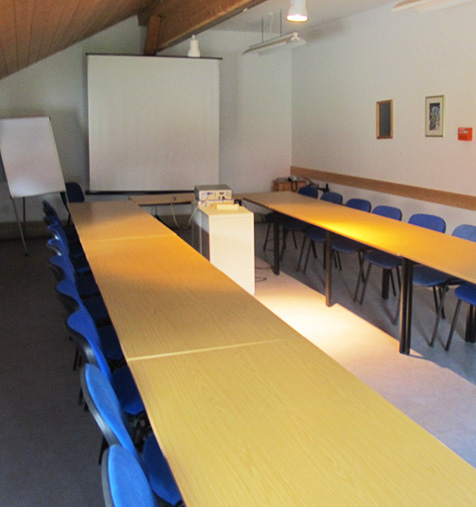 Seminarraum im Hundesporthotel Wolf in Oberammergau